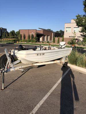 1973 skeeter Hawk bass boat 85 Johnson for Sale in Fort Collins, CO