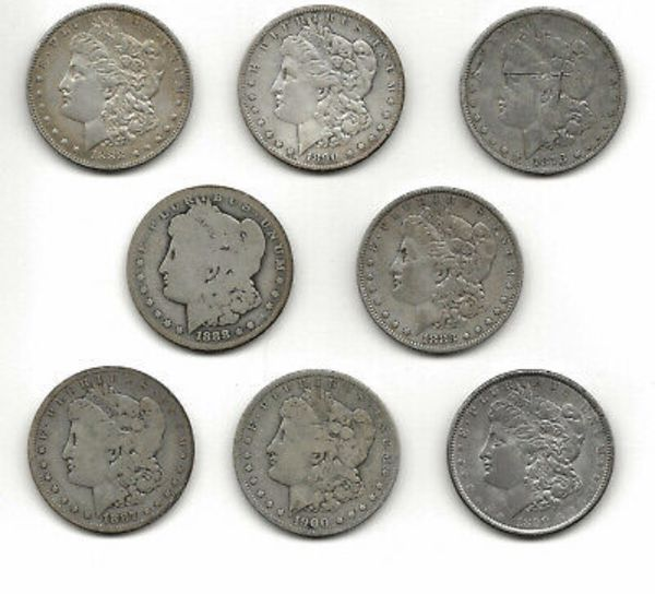 Various Morgan Dollars