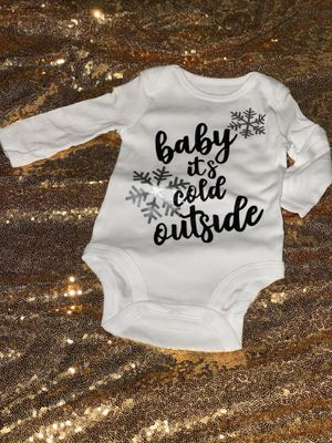 Winter baby onesies for Sale in Riverdale, IL