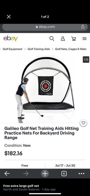 Golf sports net and putting green free delivery for Sale in Rockledge, FL
