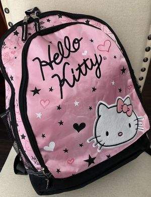 New-HELLO KITTY Pink & Black BackPack/Interior Lining Black (1) Large Zipper Compartment & (1) Medium Zipper Compartment In Front Reverse Side -Color for Sale in Yucaipa, CA