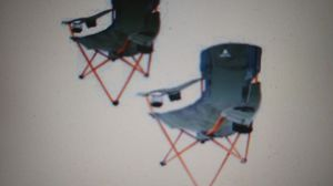 Ozark Trail Tailgate Quad Camping Chair 2 Pack Set for Sale in Indianapolis, IN