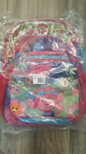 Trolls backpack and lunch box for Sale in Lakeland, FL