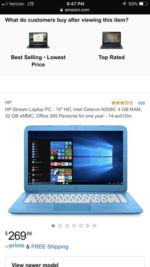 Hp stream laptop baby blue for Sale in Tulare, CA