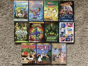 Kids DVD Movie Lot Ninja Turtles Shrek Lilo & Stitch etc for Sale in Monroeville, PA