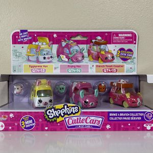 Shopkins Cutie Cars Brake 4 Brunch Collection Pack with 3 Cars and Mini Shopkins for Sale in Pompano Beach, FL