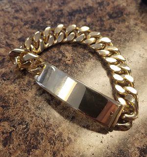 14K GOLD MEN'S I.D. BRACELET for Sale in Houston, TX