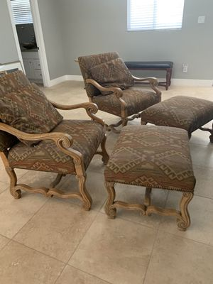 Chair and ottoman sets ,$150 per set for Sale in Phoenix, AZ