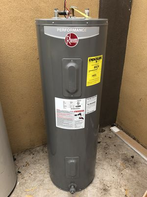 Rheem 50 gallon Electric water heater delivered and installed $350.00 for Sale in Phoenix, AZ