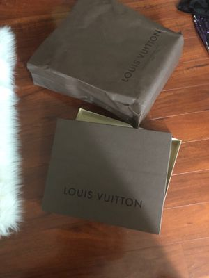 Large authentic Louis Vuitton box and bag for Sale in Niles, IL