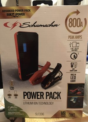 Schumacher Power Pack Jumper Battery Charger for Sale in San Francisco, CA