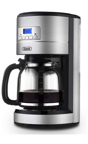 Coffee Maker GEVI 12 Cup Coffee Machine Stainless Programmable Setting Silent Operation Drip Coffeemaker with Coffee Pot and Filter for Home and Offi for Sale in New York, NY