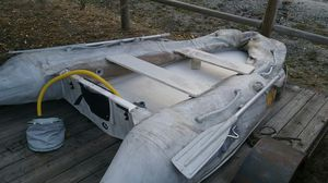 BRIG Fiberglass Hull Rigid Inflatable w/8hp Evinrude. for Sale in Leavenworth, WA