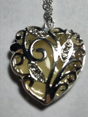 Silver moonstone heart necklace for Sale in Longwood, FL