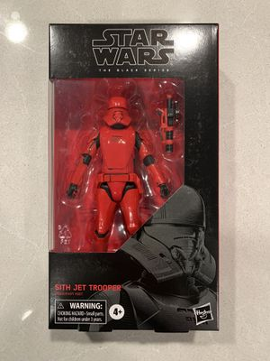 Sith Jet Trooper Black Series Star Wars *BRAND NEW SEALED* Stormtrooper Action Figure Collectible E9320 Hasbro Disney for Sale in Lewisville, TX