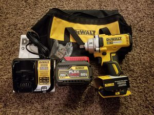 Dewalt 20-Volt MAX XR Lithium-Ion Brushless Cordless 1/2 in. Impact Wrench with Detent Pin Anvil Starter Kit for Sale in Modesto, CA