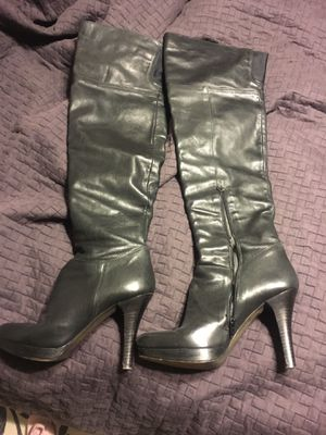 NaNa black leather over the knee boots for Sale in Grand Island, NE