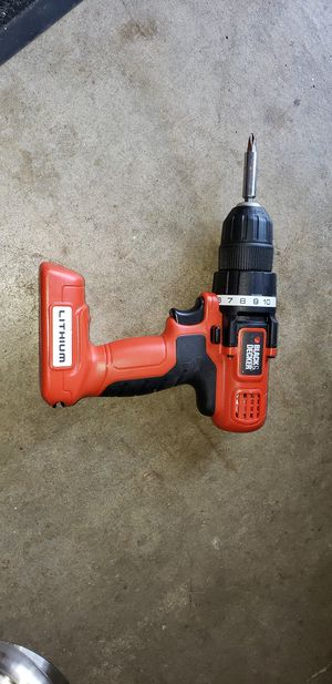 Black and Decker Lithium 7.2v drill for Sale in Arnold, MO