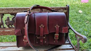 Handmade Italian leather messenger bag for Sale in Aurora, CO