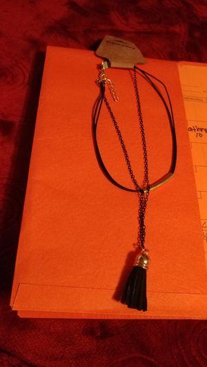 Black necklace with fringe charm for Sale in Salt Lake City, UT