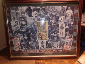 Framed Muhammad Ali poster for Sale in Salinas, CA