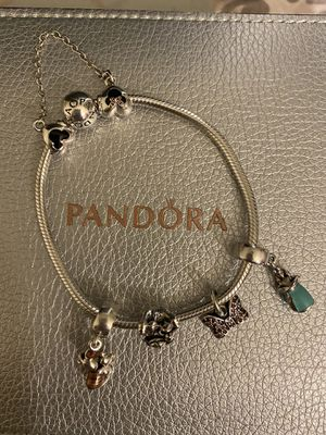 Pandora Bracelet charms and safety chain for Sale in New York, NY