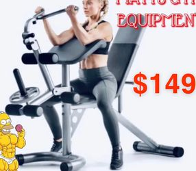 New Adjustable Bench With Leg Developer Curl Yoke And Preachers Perch for Sale in Fort Lauderdale,  FL