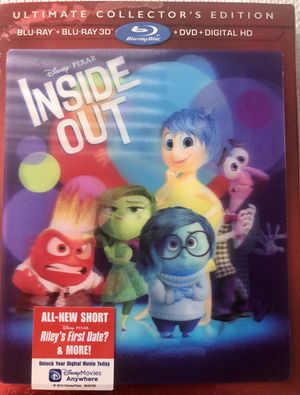 INSIDE OUT BLU RAY 3D NEW! +DVD +Digital for Sale in Chantilly, VA
