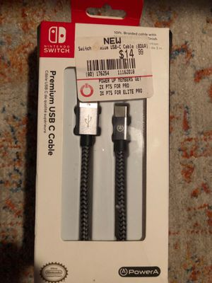 Nintendo switch usb cable open box all is there PowerA Premium USB-C Cable for Nintendo Switch for Sale in New York, NY