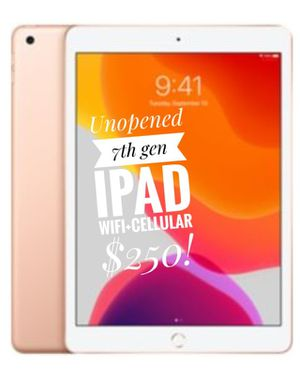 UNOPENED iPad 7th Gen WiFi + Cellular 32gb Rose Gold for Sale in Arlington, VA