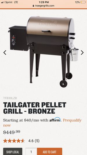 Tailgater pellet grill- bronze for Sale in Vancouver, WA
