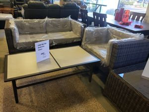 New 3pc outdoor patio furniture set sunbrella for Sale in Hayward, CA