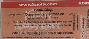 2 tickets Soak City Water 💦Park for Sale in Fontana, CA