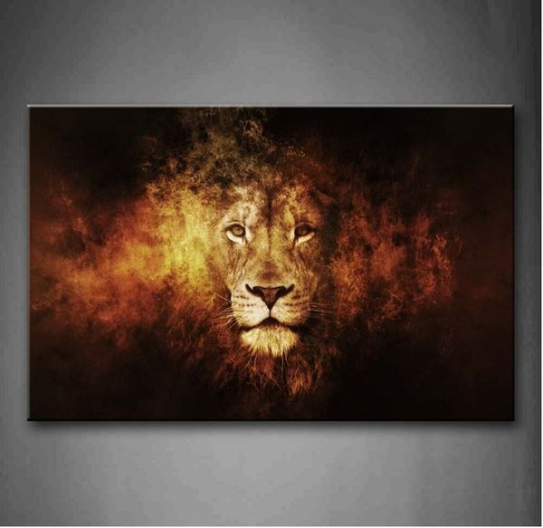 New Lion Head Portrait Wall Art Painting Pictures Print On CanvasAbstract