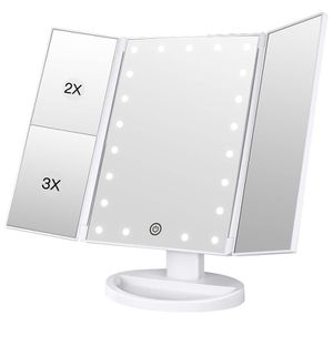 Makeup Vanity Mirror with Lights, 2X/3X Magnification-Brand New for Sale in Las Vegas, NV