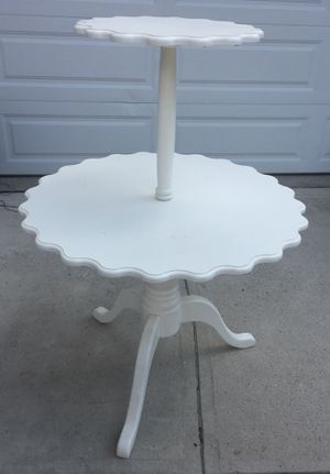 2 tier antique table wedding display wood for Sale in Hilliard, OH