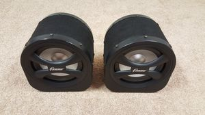 """Pair of Audiovox Rampage 200W 8"""" Car Sub Woofers! Powered Bass Box Subwoofer BA100 for Sale in Arlington Heights, IL"""