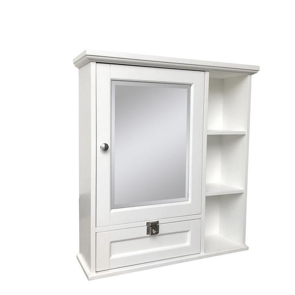 Home2O Anwyn 26-in x 28-in Rectangle Surface Mirrored Medicine Cabinet Home2O Anwyn 26-in x 28-in Rectangle Surface Mirrored Medicine Cabinet