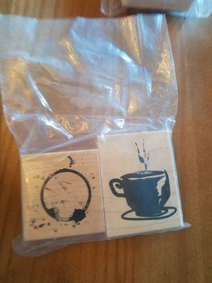 Coffe/tea theme rubber stamp set for Sale in Chicago, IL