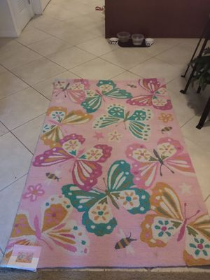 "New pink butterfly rug 5' x 3.6"" for Sale in Fort Myers, FL"