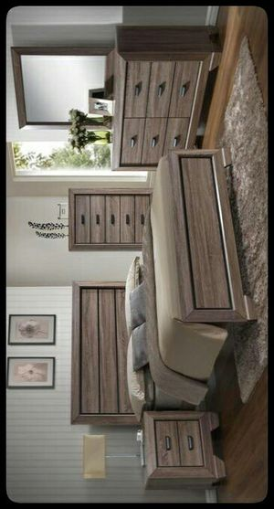 💤SAME DAY DELIVERY💤 Felicity Grayish Brown Panel Bedroom Set for Sale in Hyattsville, MD