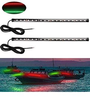 LED Boat Bow Navigation Light Stern Lights Kits 12 Inch Stern Lights for Marine Boat Vessel Pontoon Yacht Skeeter - 1 Pair - Red and Green for Sale in North Miami Beach, FL
