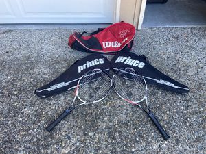2 tennis rackets with bags for Sale in Federal Way, WA