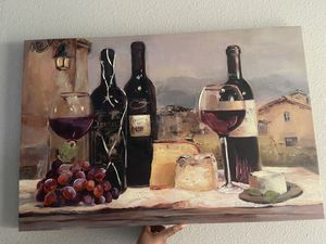24x36 kitchen wine painting for Sale in Houston, TX