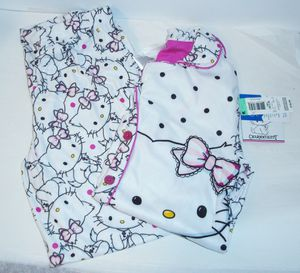 Girls Size Medium 7/8 New With Tags Hello Kitty Flannel Pajamas for Sale in California City, CA