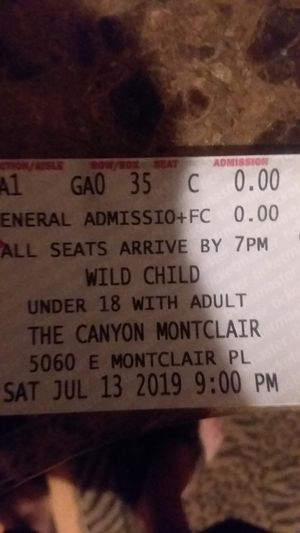 Wild child the doors tribute band tix for Sale in Montclair, CA
