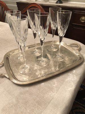 Crystal champagne flutes for Sale in Haymarket, VA