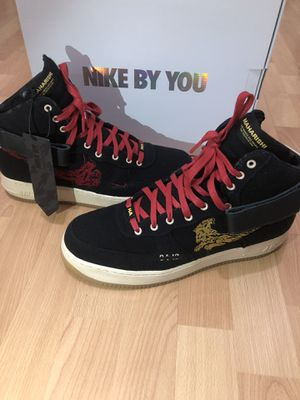 Maharishi X Nike Air Force 1 Tiger Dragon Men Size 11.5 Red Black Gold Shoes for Sale for sale  Staten Island, NY