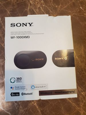 Sony WF-1000XM3 Noise Canceling Wireless Earbuds,Asking $170 cash or best offer for Sale in Glendale, AZ