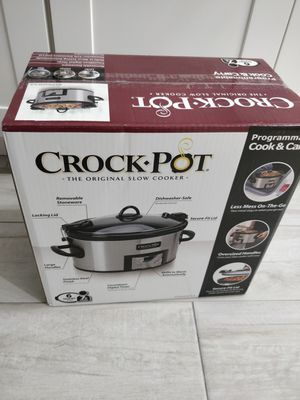 Crock-Pot 6-Quart Cook & Carry Programmable Slow Cooker with Digital Timer, Stainless Steel for Sale in Fort Lauderdale, FL